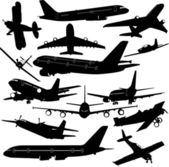 Airplane collection — Stock Vector