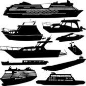船舶运输集合kolekce dopravy lodí — 图库矢量图片