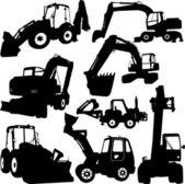 Excavator silhouette — Stock Vector