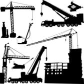 Construction crane — Stock Vector