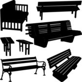 Bench silhouette — Stock Vector