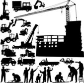 Construction objects vector — Stock Vector