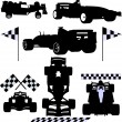 Formula cars - Stock Vector