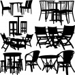 Tables and chairs — Stock Vector