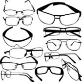 Sunglasses collection — Stock Vector