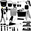 Painting tools — Stock Vector