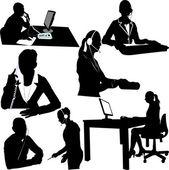 Secretary and call center operator — Stock Vector