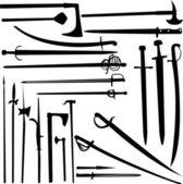 épées et couteaux — Vecteur