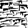 Weapon collection — Stockvectorbeeld