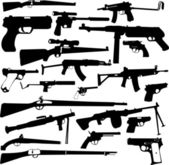 Weapon collection — Stock Vector