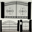 Iron gates — Stock Vector