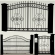 Stock Vector: Iron gates