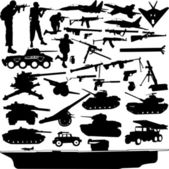 Military objects — Vector de stock