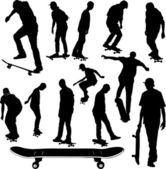 Skateboarders collection — Stock Vector