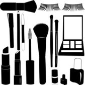 Make Up Silhouettes — Stock Vector