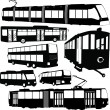 Urban transportation collection — Stock Vector