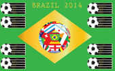Flags for soccer championship 2014. — Stock Vector