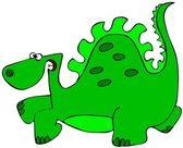 Dinosauro verde — Foto Stock