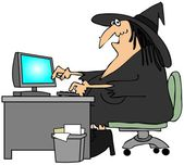 Office witch — Stock Photo