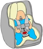 Baby in a car seat — Stock Photo