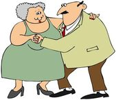 Old couple dancing — Stock Photo