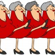 Old woman chorus line — Stock Photo #15391837
