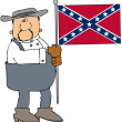 Confederate man — Stock Photo