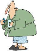 Muž s chřipkou — Stock fotografie