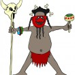 Cannibal headhunter — Stock Photo #23481747