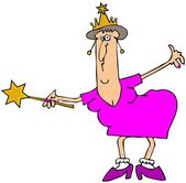 Chubby fairy godmother — Stock Photo