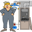 Stock Photo: Female HVAC technician