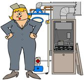 Female HVAC technician — Stock Photo