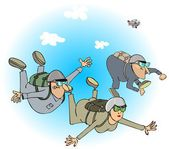 Skydivers — Stock Photo