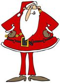 Santa with hands on hips — Stockfoto