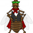 Stock Photo: Defiant bug wearing vest