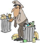 Garbage man — Stock Photo