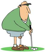 Golfista con una pierna artificial — Foto de Stock