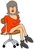 Pretty girl sitting on a chair — Stock Photo