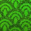 Green sparkles — Stock Photo