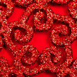 Stock Photo: Red sparkles