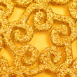 Gold sparkles — Stock Photo
