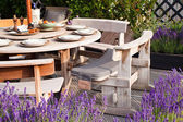 Outdoor food place — Stock Photo