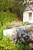 Trädgård landskap — Stockfoto
