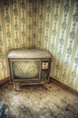 Abandoned Television Set — Stock Photo