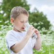 Stock Photo: Child drinking pure water