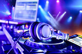 Dj mixer with headphones — Stok fotoğraf