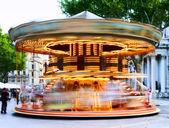 Traditional carousel with horses — Stock Photo
