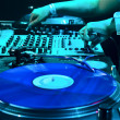 Stock Photo: Dj mixes track in nightclub
