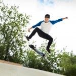 Skateboarder in the skatepark — Stock Photo #12733113