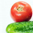 Royalty-Free Stock Photo: Tomato and cucumber